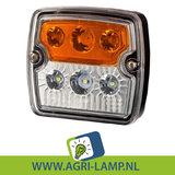 Breedtelamp, multilamp, voor, trekker, wit oranje