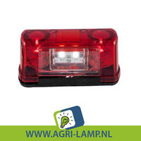 AANBIEDING. rood nummerplaatverlichting led