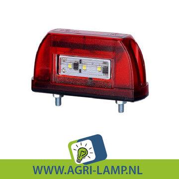 LED nummerplaatverlichting rood 10V-30V PRO serie