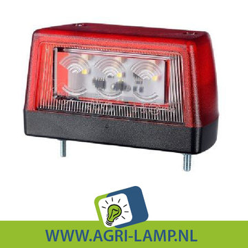Nummerplaatverlichting led rood 10V-30V PRO serie