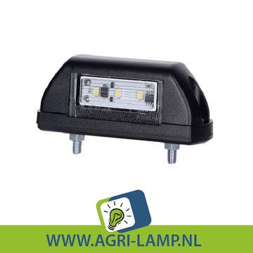 LED nummerplaatverlichting zwart 10V-30V PRO serie