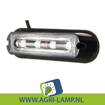 Flitser LED 4 leds met lens 12V en 24V