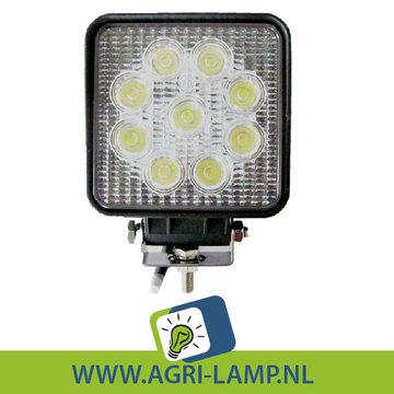 LED Werklamp 27w, 12V 24V  27 Watt